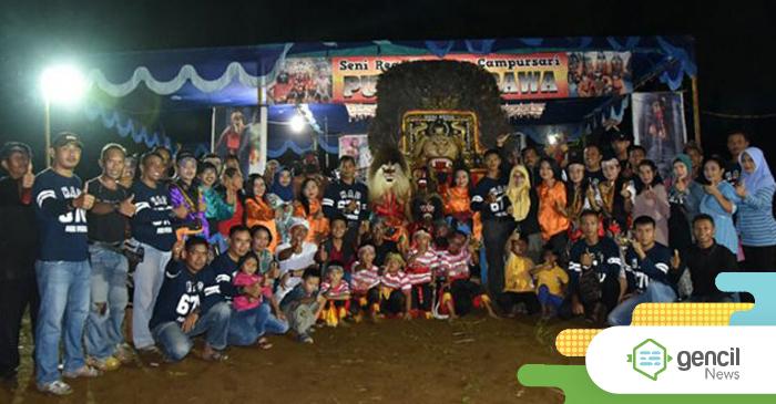 Reog Ponorogo Tutup Pasar Malam Dan Sambut Pergantian Tahun Di Perbatasan Bersama Lanud HAD