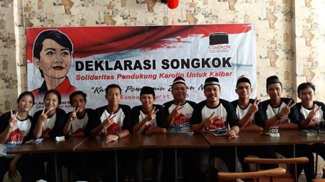 Solidaritas pendukung karolin di Singkawang, terbentuk.