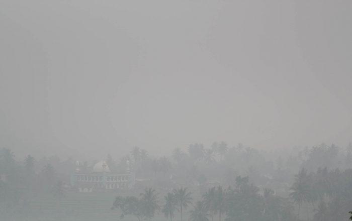 Kabut Asap Mulai Selimuti Kota Pontianak
