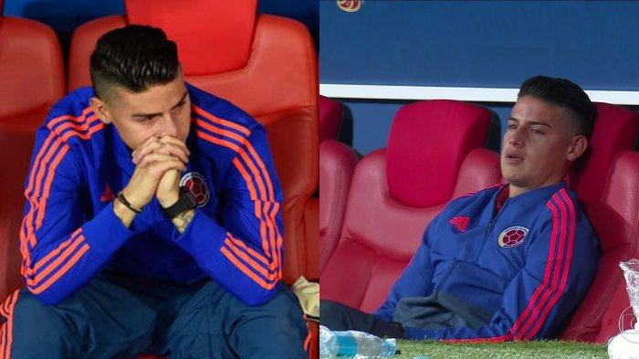 Ini dia alasan James Rodriguez  tidak bermain saat Kolombia melawan Inggris
