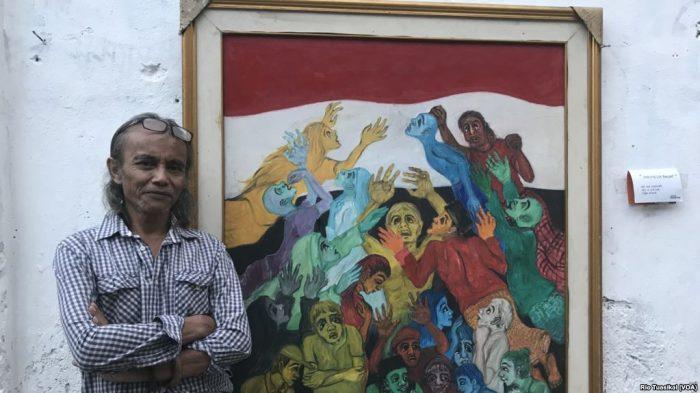 Pameran Lukisan di Gang Kecil Suarakan Isu Sosial