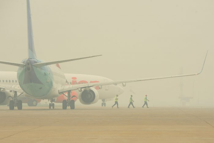 Kabut Asap, 3 Pesawat Berputar 40 Menit di Atas Kota Pontianak