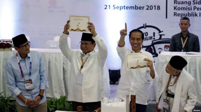 Jokowi Nomor Urut 1, Prabowo Nomor Urut 2 di Pilpres 2019, Jokowi-Prabowo Serukan Persatuan