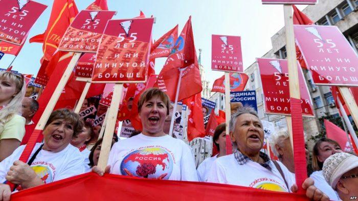 Ribuan Orang Unjuk Rasa di Moskow, Protes Batasan Umur Pesiun