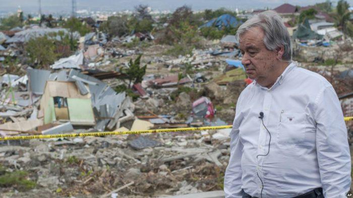 Sekjen PBB Tunjukkan Solidaritas pada Warga Terdampak Gempa