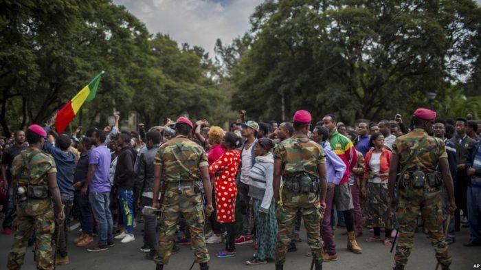 Gaji Rendah Tentara Ethiopia Gelar Unjuk Rasa