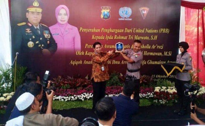 Buset, Ipda Rochmat Dapat Penghargaan Palsu Mengatasnamakan PBB