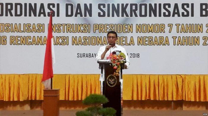 Menko Polhukam Wiranto Ajak Elemen Bangsa Untuk Bela Negara