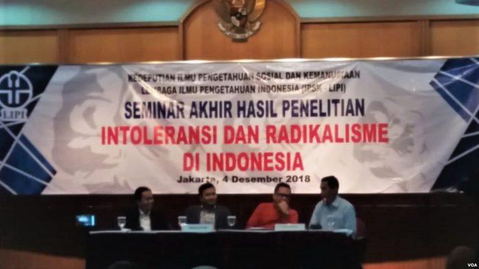LIPI: Intoleransi Politik di Indonesia Meningkat