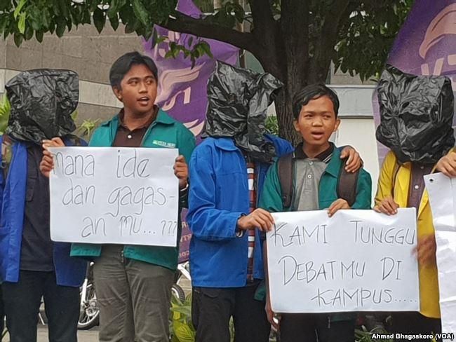Mahasiswa Gelar Aksi Tuntut Debat Pilpres di Kampus