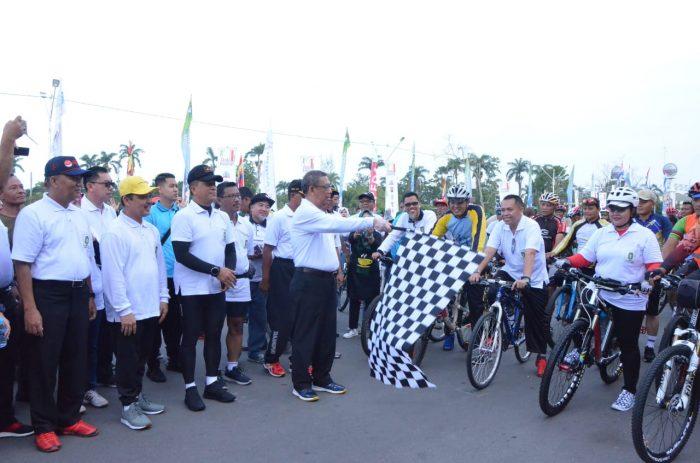 Senam sehat, fun bike dan Bazzar Murah di HUT Pemprov Kalbar Ke 62