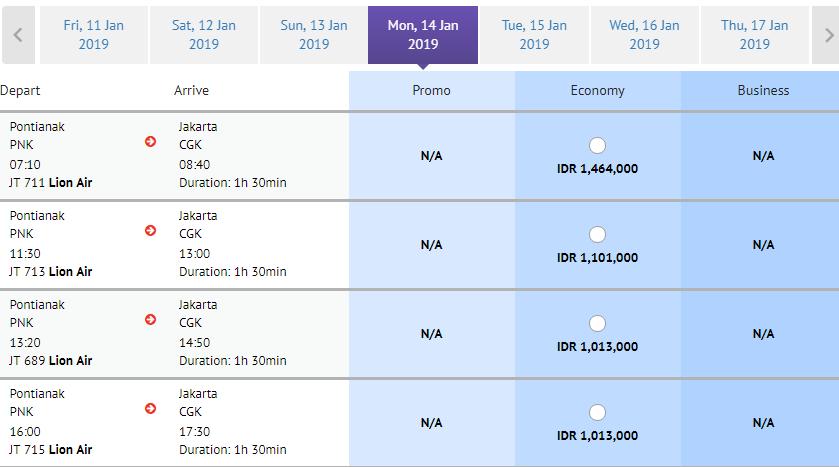 Walaupun Harga Tiket Pesawat Turun Pontianak Jakarta Masih Mahal