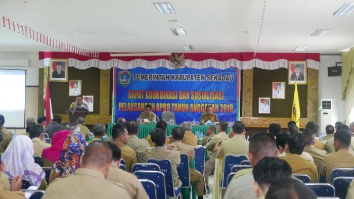 BPKAD Sekadau Gelar Rakor dan Sosialisasi Pelaksanaan APBD 2019