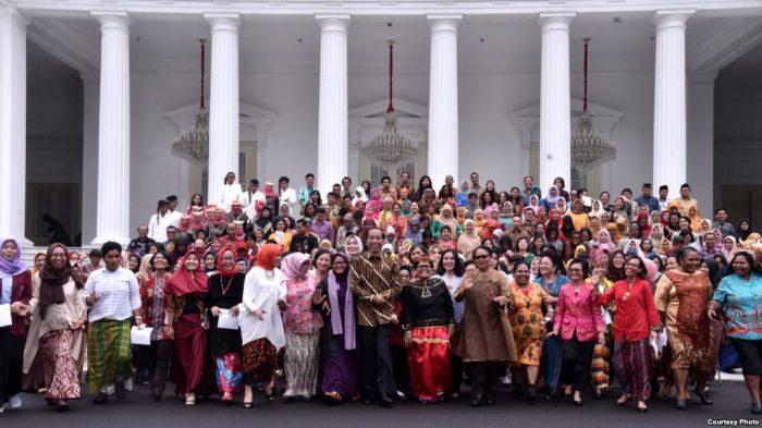 Presiden Jokowi Terkesan dengan Perjuangan Aktivis Perempuan