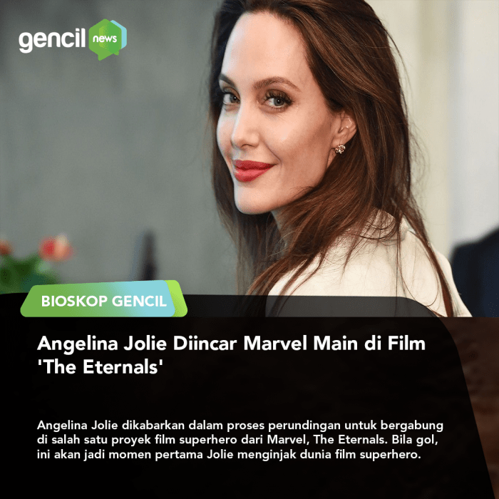 Angelina Jolie dikabarkan Bakal dipinang Marvel