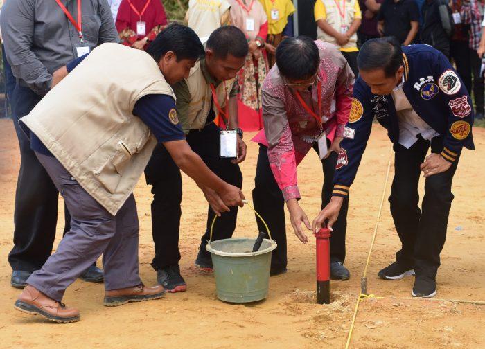 Presiden Jokowi Canangkan Gerakan Pemasangan Patok Tanda Batas Tanah 2019