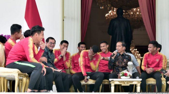 Presiden Jokowi Tambah Bonus Timnas U-22 Rp200 juta