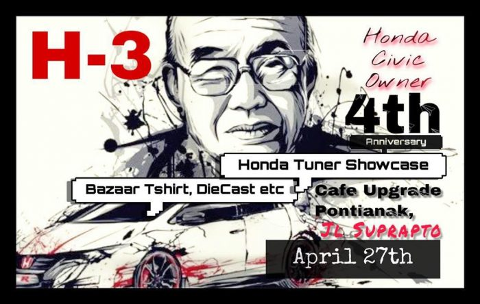 "Ulang Tahun Ke 4 Honda Civic Owner Pontianak Gelar ""One Day Honda Sensation"""