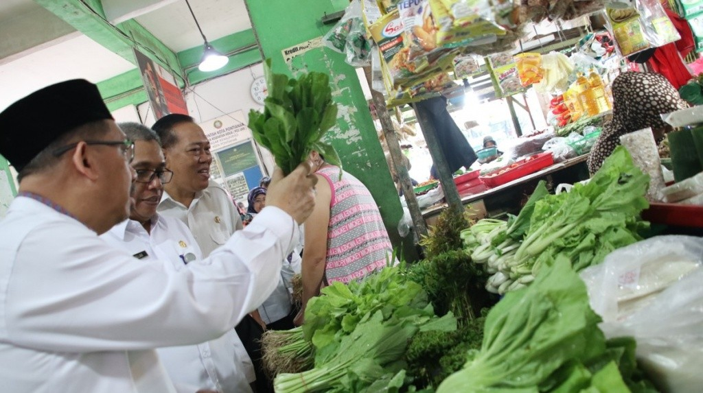 TPID Pastikan Harga Kebutuhan Pokok Stabil di Pasar Kota Pontianak.