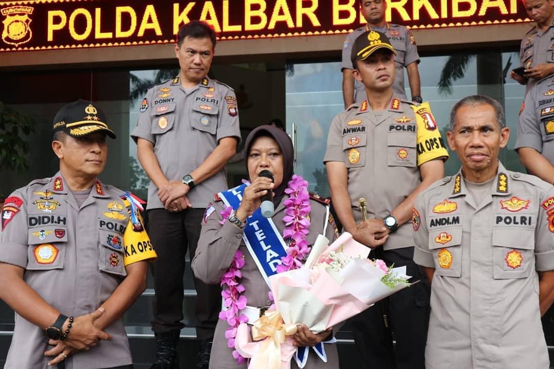 Kapolda Kalbar Sambut Polisi Teladan Nasional Kompol Syarifah Salbiah