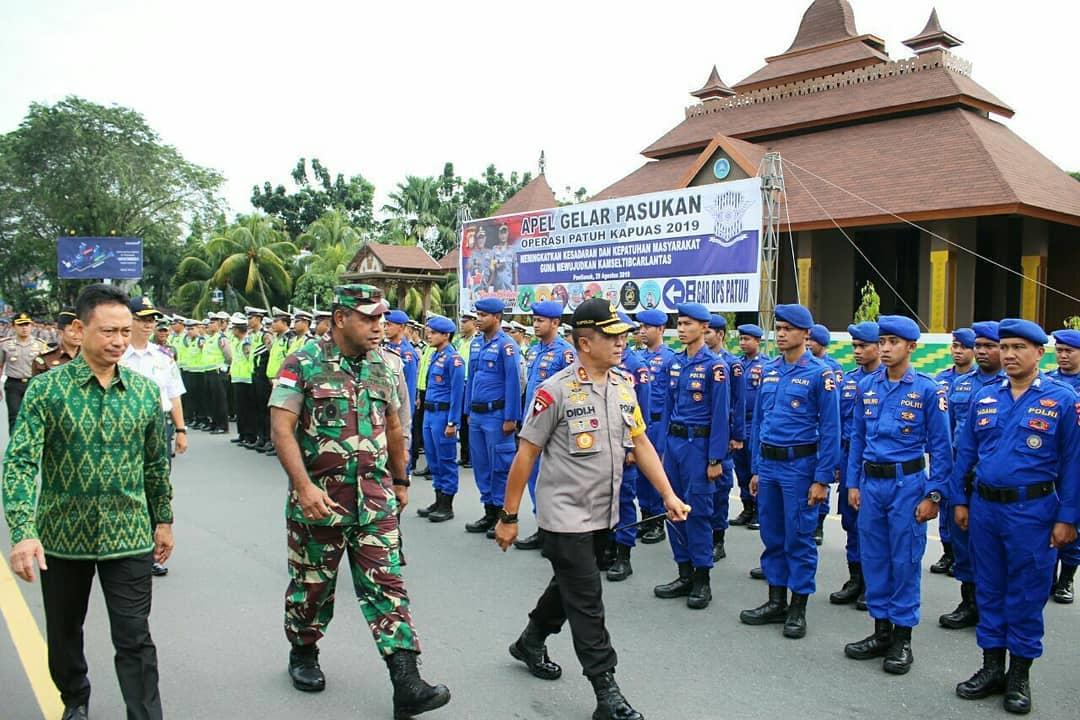 Pangdam XII/Tpr Hadiri Apel Gelar Operasi Patuh Kapuas 2019