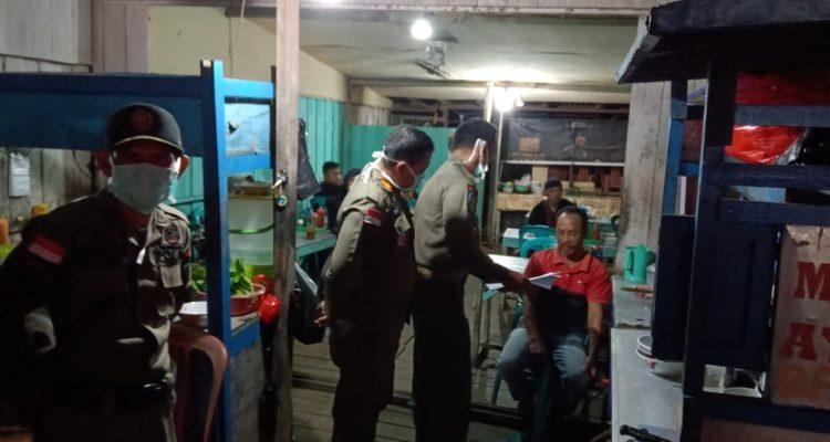 Cegah Corona di Kapuas Hulu, Satpol PP Sisir Warkop dan Cafe