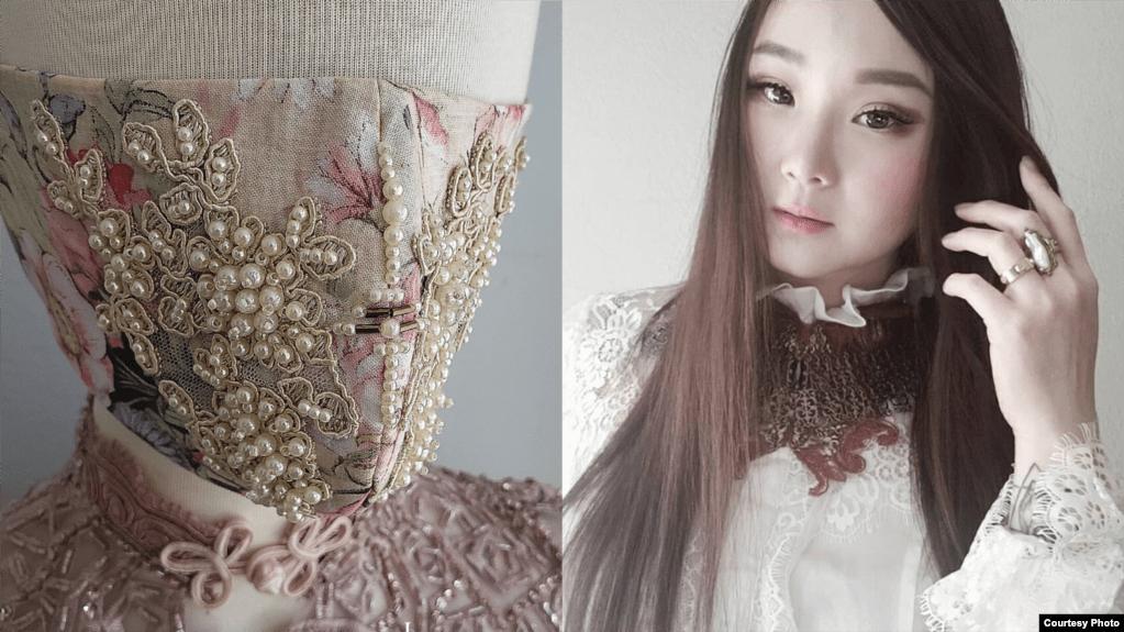 Di tengah pandemi COVID-19, desainer Indonesia di Los Angeles, Pheren Soepadhi, kini tengah sibuk membuat masker kain eksentrik, yang mengangkat 'couture fashion.'