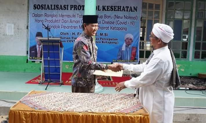 Pemerintah Kabupaten (pemkab) Ketapang melakukan Penandatanganan Naskah Perjanjian Hibah Daerah (NPHD) dengan Yayasan Pondok Pasantren Mambaul Khairot.