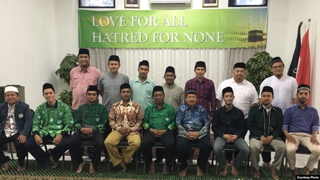 Kunjungan dari rombongan Persatuan Guru NU berkunjung ke kantor pusat Ahmadiyah di Jakarta pada akhir tahun 2019. (Foto: Dokumentasi Ahmadiyah)