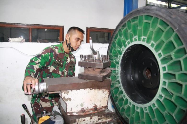 Ban tanpa udara yang diproduksi Poltekad Kodiklat TNI AD. Foto: Dok. Poltekad Kodiklat TNI AD