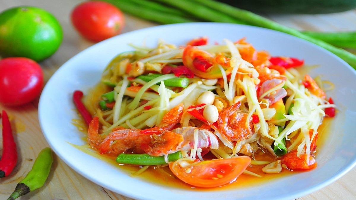 Resep Makanan Salad Pepaya Khas Thailand