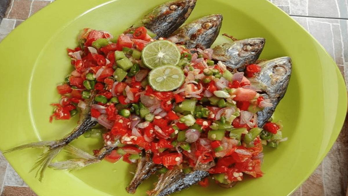 Resep Masakan Ikan kembung sambal dabu-dabu