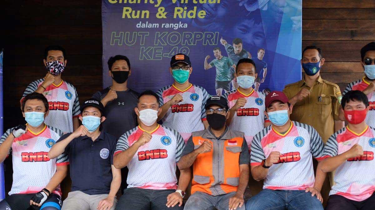PARA KADER Dan Rumah Zakat Gelar Charity Virtual Run & Ride