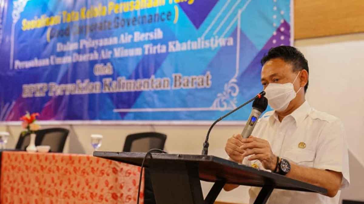 Wali Kota Pontianak Minta PDAM Tingkatkan Kualitas Pelayanan Air Bersih