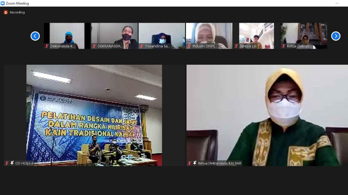 Lismaryani Sutarmidji Dorong Dekranasda Bantu Pemulihan Ekonomi Kalbar