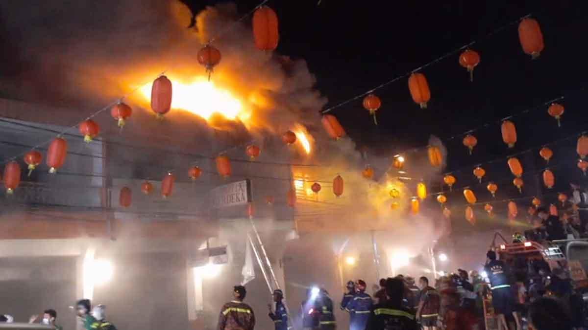 UPDATE Kebakaran Singkawang, 7 Ruko Jalan Ponegoro Ludes