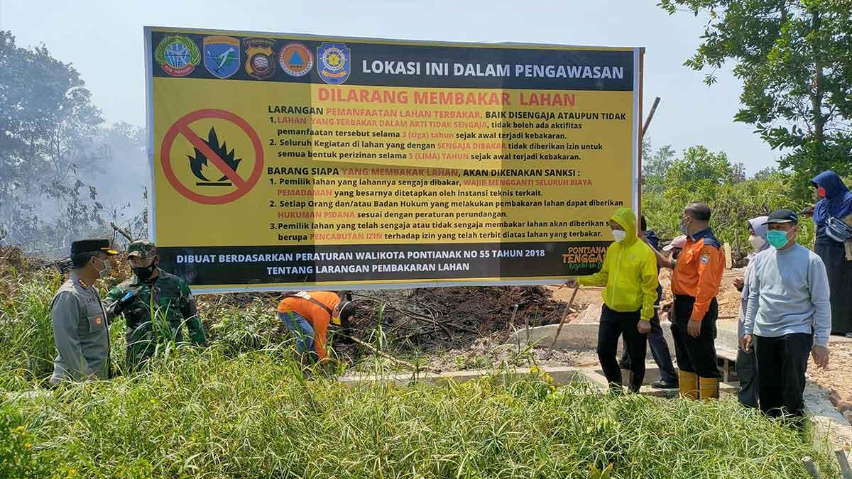 Pemkot Pontianak Segel 5 Lokasi Lahan Yang Terbakar